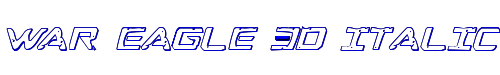 War Eagle 3D Italic