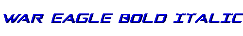 War Eagle Bold Italic
