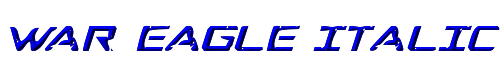 War Eagle Italic