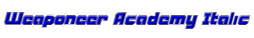 Weaponeer Academy Italic