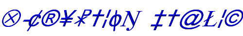 X-Cryption Italic 