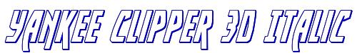 Yankee Clipper 3D Italic