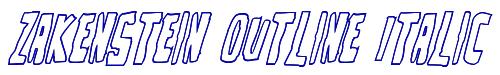 Zakenstein Outline Italic