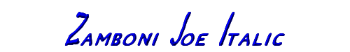 Zamboni Joe Italic