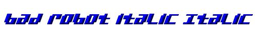 bad robot italic Italic