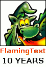 FlamingText 10 years