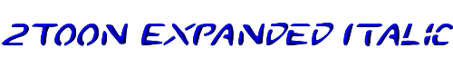 2Toon Expanded Italic