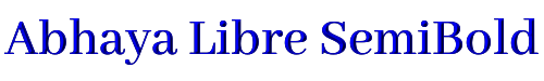 Abhaya Libre SemiBold
