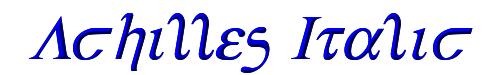 Achilles Italic