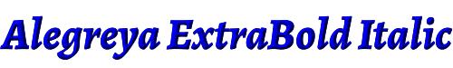 Alegreya ExtraBold Italic