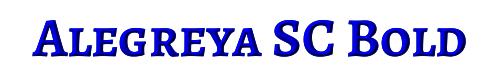 Alegreya SC Bold