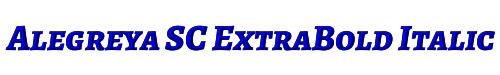 Alegreya SC ExtraBold Italic