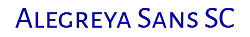 Alegreya Sans SC