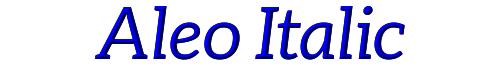 Aleo Italic