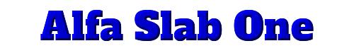 Alfa Slab One