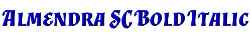 Almendra SC Bold Italic