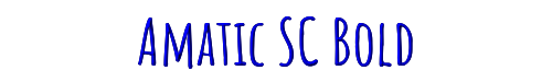 Amatic SC Bold