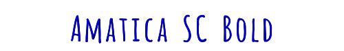 Amatica SC Bold