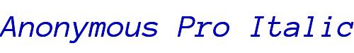 Anonymous Pro Italic