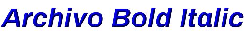 Archivo Bold Italic