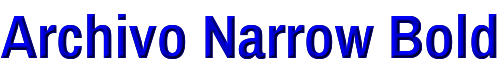 Archivo Narrow Bold