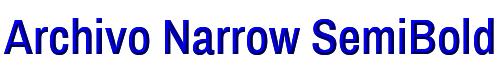 Archivo Narrow SemiBold