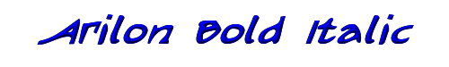 Arilon Bold Italic