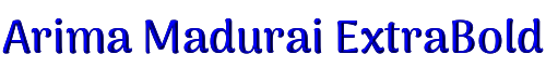 Arima Madurai ExtraBold