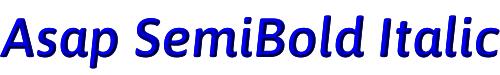 Asap SemiBold Italic