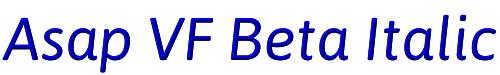 Asap VF Beta Italic