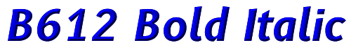 B612 Bold Italic
