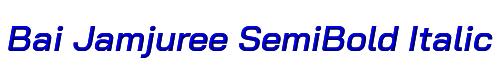 Bai Jamjuree SemiBold Italic