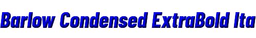 Barlow Condensed ExtraBold Italic
