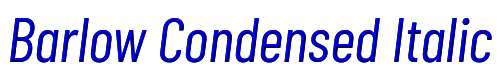Barlow Condensed Italic