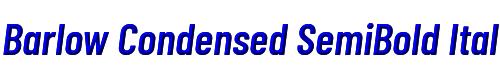 Barlow Condensed SemiBold Italic