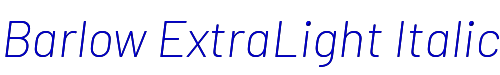 Barlow ExtraLight Italic