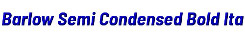 Barlow Semi Condensed Bold Italic