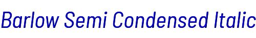 Barlow Semi Condensed Italic