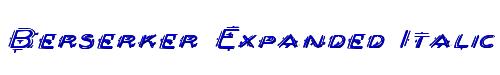 Berserker Expanded Italic