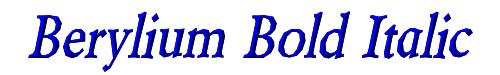 Berylium Bold Italic