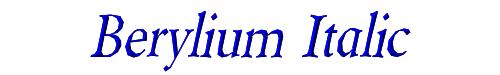 Berylium Italic