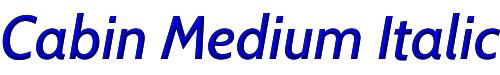 Cabin Medium Italic