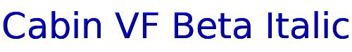Cabin VF Beta Italic