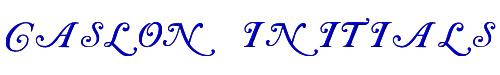 Caslon Initials