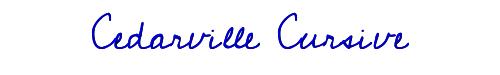 Cedarville Cursive