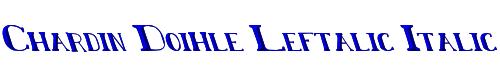 Chardin Doihle Leftalic Italic
