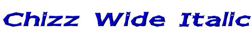 Chizz Wide Italic