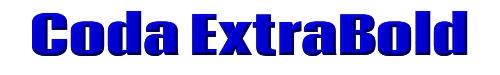 Coda ExtraBold