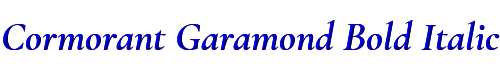 Cormorant Garamond Bold Italic