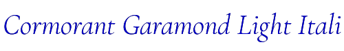 Cormorant Garamond Light Italic